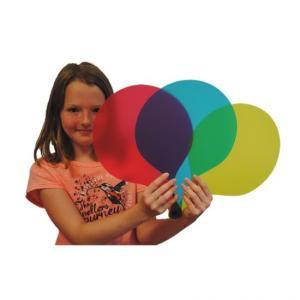 palas de colores mesa de luz